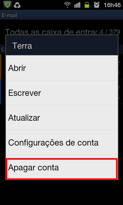 Como excluir uma conta de e-mail no Galaxy S II com ...